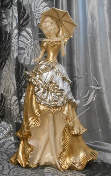 Dama con ombrello arte fabris produzione complementi d for Produzione complementi d arredo