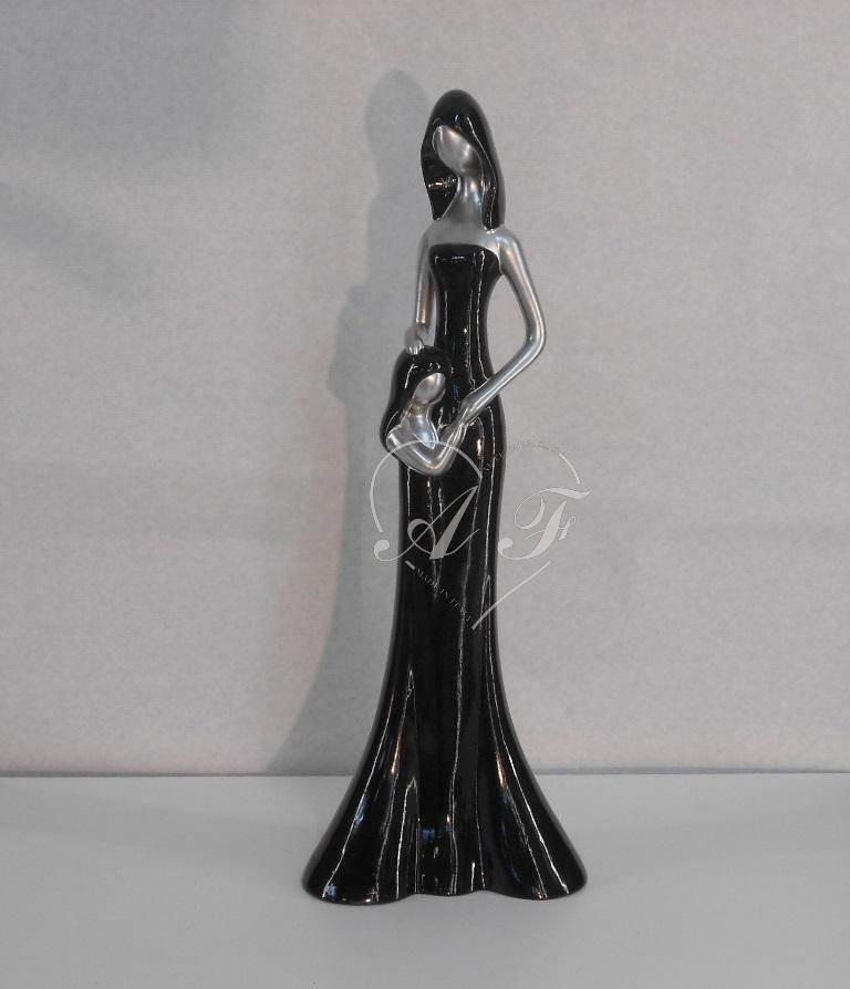 Figura donna con bambina arte fabris produzione for Produzione complementi d arredo