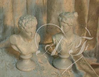 Mezzo busto giulio cesare e mezzo busto paolina arte for Produzione complementi d arredo